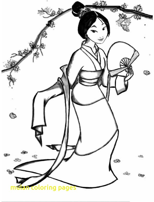 600x789 Mulan Coloring Pages With Fa Mulan In Her Classic Chinese Dress