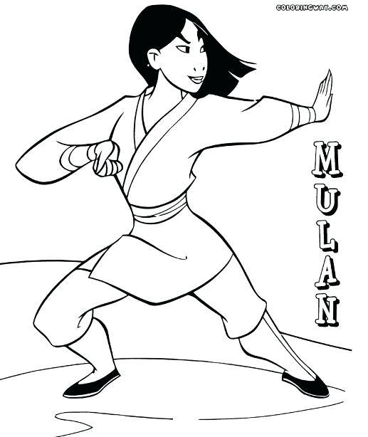 517x614 Mulan Para Colorear Mulan Coloring Pages Dibujos Mulan Para