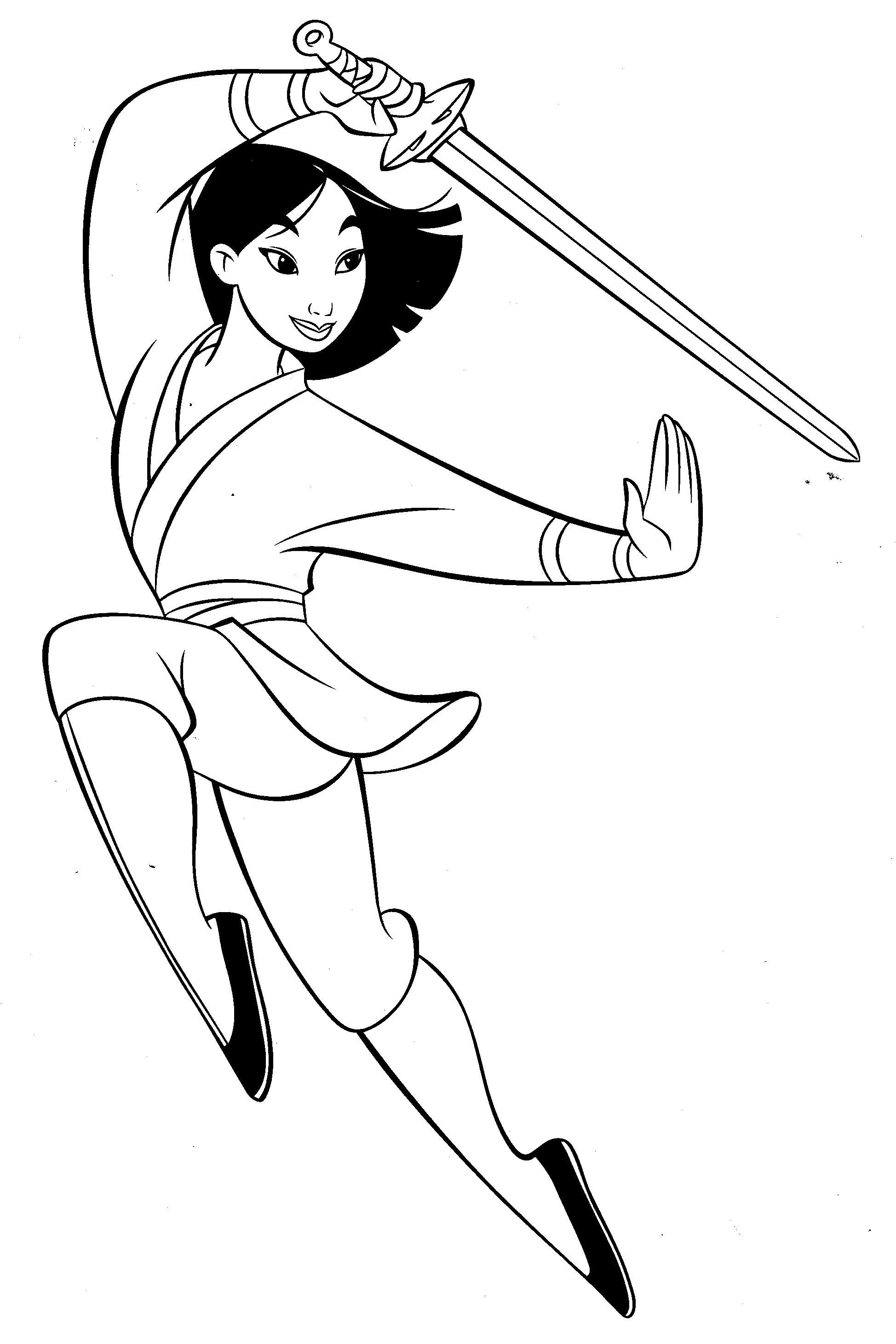 1948x2922 Mulan Fighter Mulan Coloring Pages Coloring Books Mulan