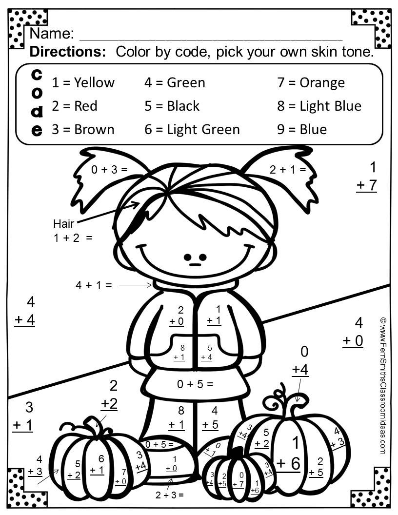 816x1056 Halloween Coloring Pages Grade Copy Halloween Math Coloring