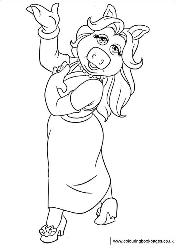 567x794 Muppet Colouring Pages Including Kermit, Miss Piggy And Gonzo