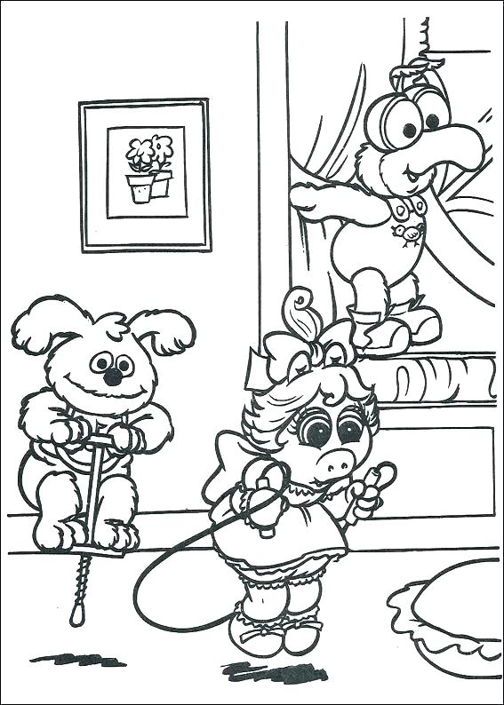 567x794 Muppet Coloring Pages The Coloring Pages Gonzo Muppet Coloring