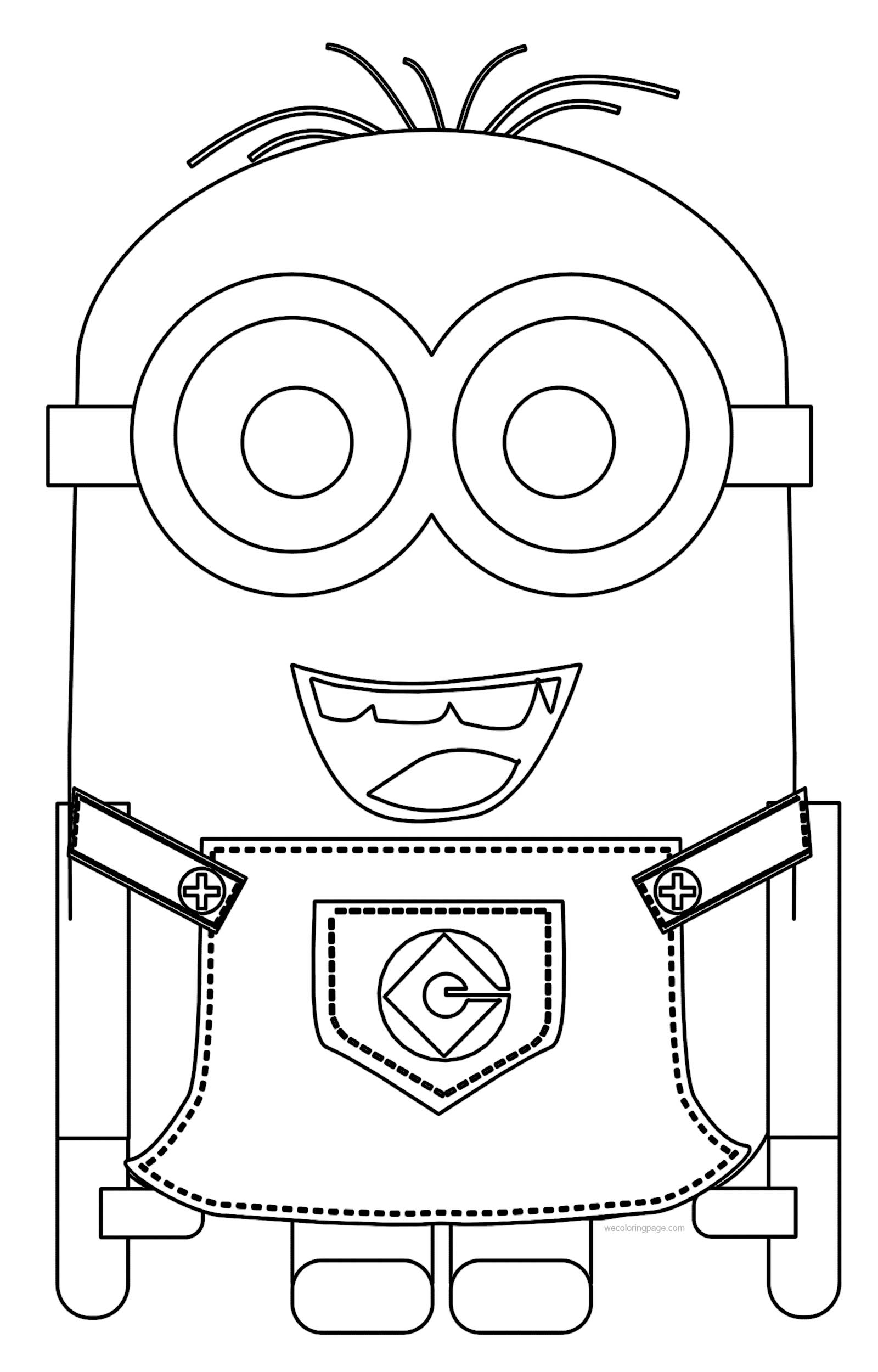 1600x2500 Minions Best Coloring Pages Wecoloringpage Free