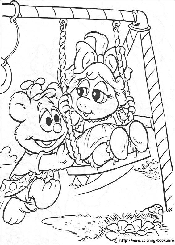 567x794 Muppet Babies Coloring Picture Coloring And Activities