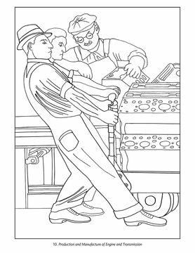 278x360 Diego Rivera The Detroit Industry Murals Coloring Book