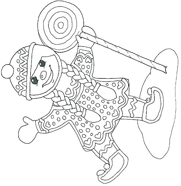 586x600 Mural Gingerbread Girl Coloring Page Free Miscellaneous Mural