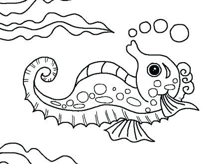 440x330 Ocean Scene Coloring Page Fish Template Craft Underwater Kids