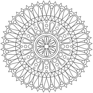 320x320 Best Mandalas To Color Images On Mandala Coloring