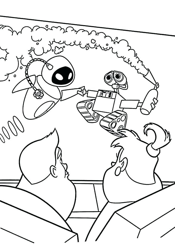 736x1031 Wall E Coloring Page Index Coloring Pages Wall Mural Coloring