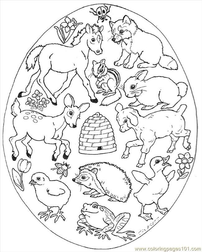 650x809 Coloring Pages Easter Egg Mural Animals Egg