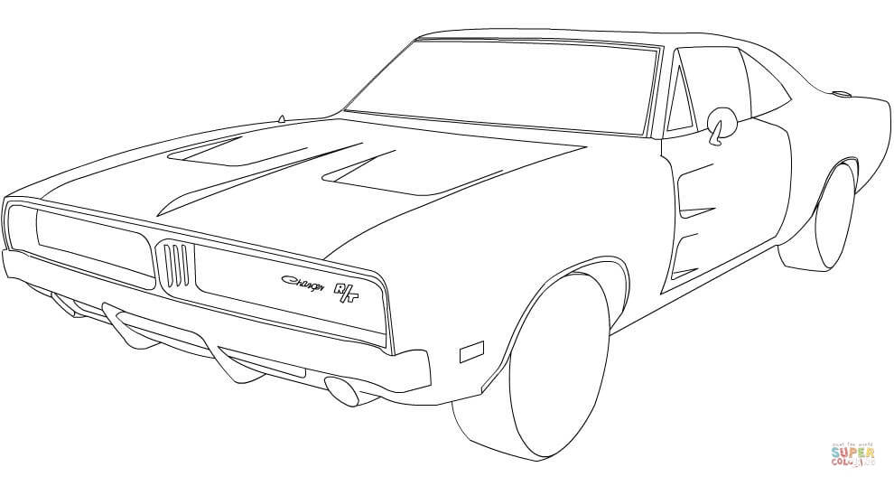990x538 Dodge Charger Rt Car Coloring Page