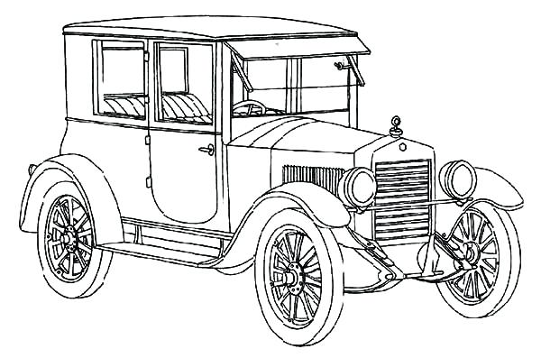 600x397 Car Coloring Page How To Draw Model T Car Coloring Pages Muscle