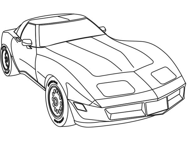 600x449 Race Car Coloring Pages Muscle Cars