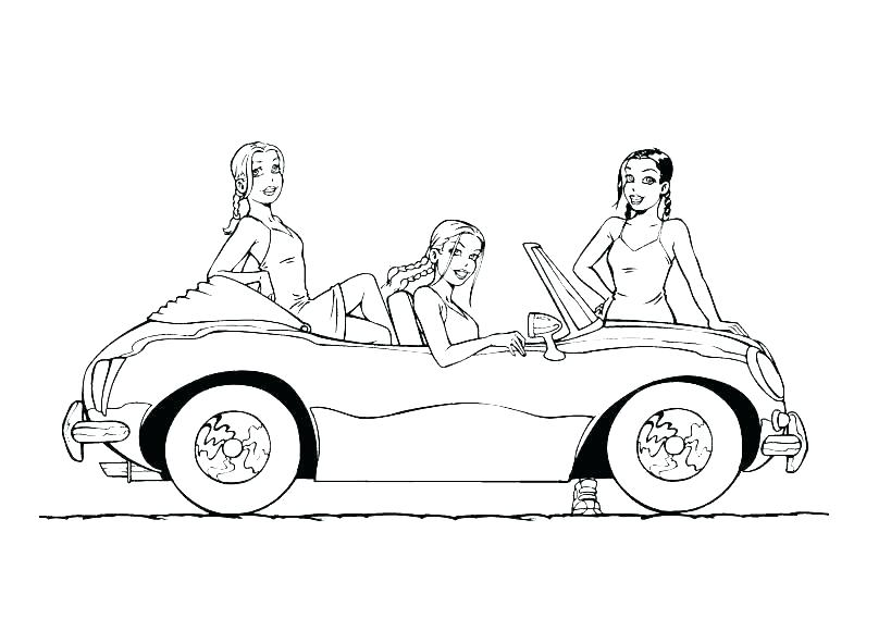 819x580 Muscle Car Coloring Pages