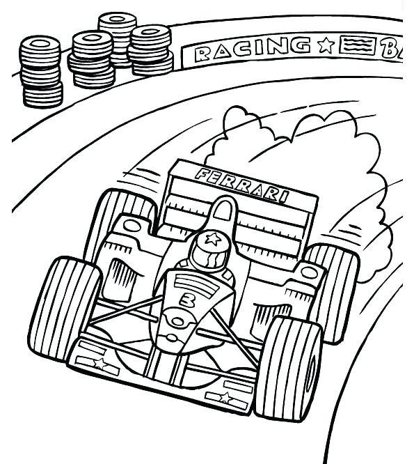 595x666 Car Coloring Pages Online Race Car Coloring Pages Race Car