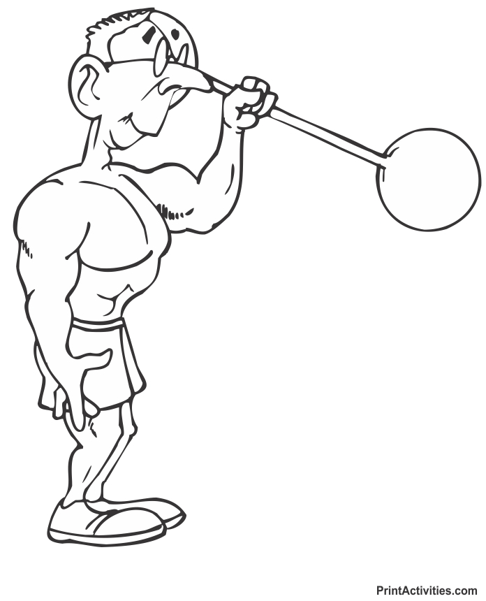 Muscle Man Coloring Pages