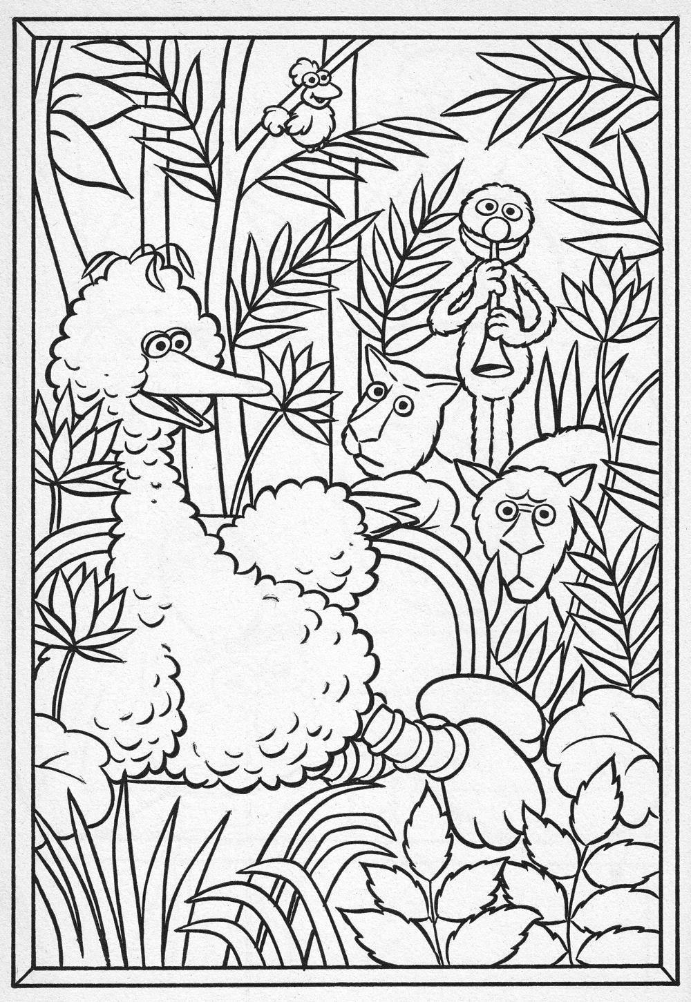 1000x1451 Henri Rousseau Monster Art, Big Bird And Coloring Books