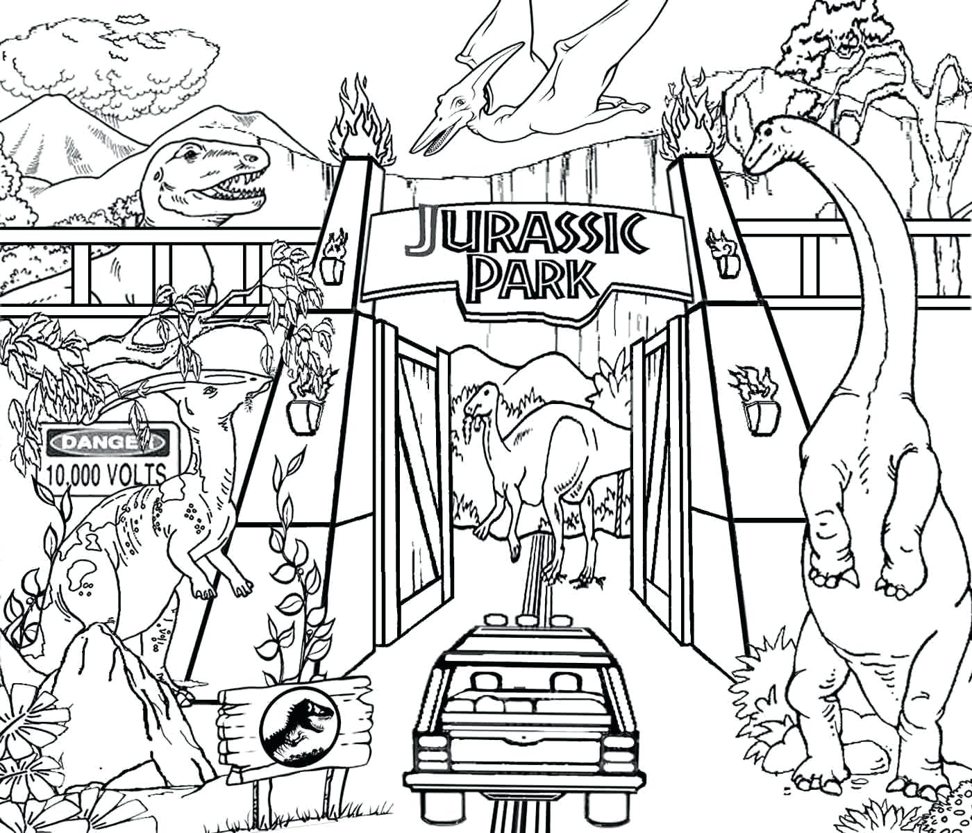 1400x1200 Realistic Dinosaur Coloring Pages Coloring Pages In Museum