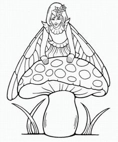 Mushroom House Coloring Page