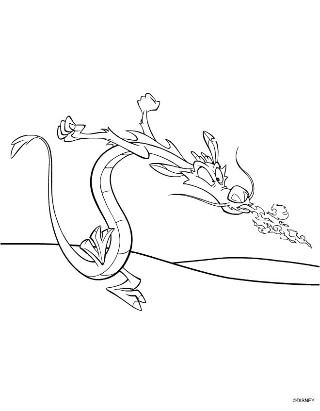 Mushu Coloring Pages