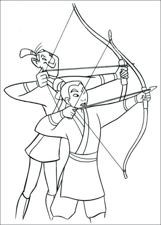 550x770 Practice Mulan And Mushu Coloring Pages Coloriage Nice
