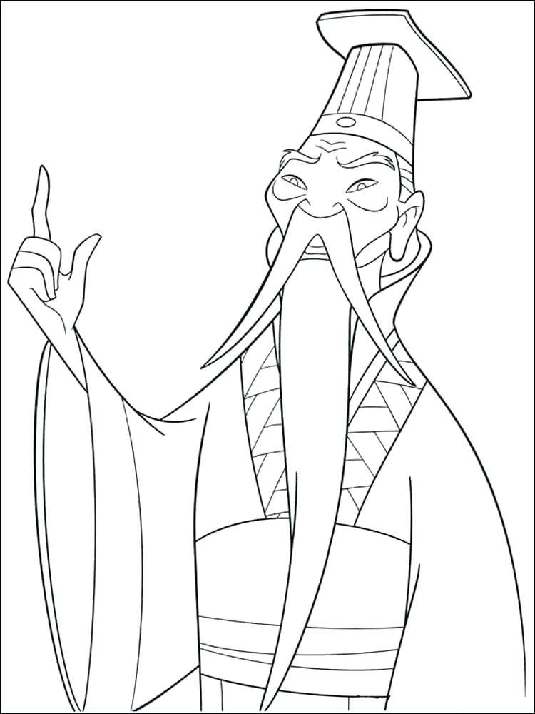 750x1000 Mulan Coloring Page Coloring Pages Mushu Mulan Coloring Pages