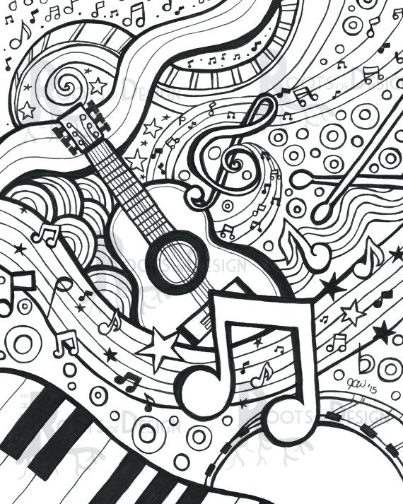 570x713 Music Coloring Pages