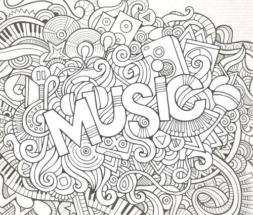 500x425 Music Coloring Pages Printable
