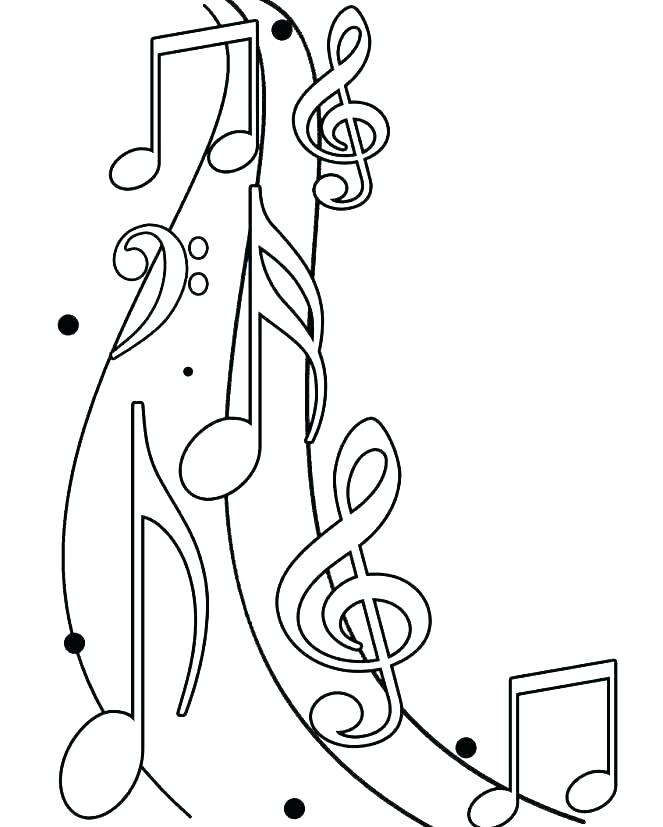 663x827 Music Notes Coloring Page Coloring Music Note Coloring Pages Music