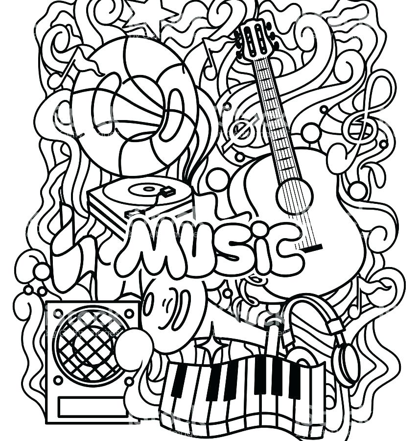 856x900 Music Notes Coloring Page Music Coloring Pages Printable Cat