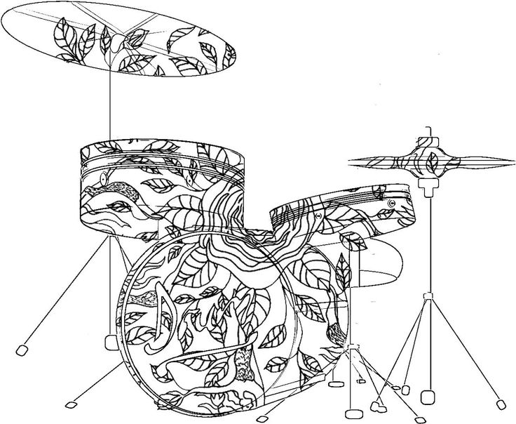 736x604 Musical Instruments Coloring Pages Fun Time