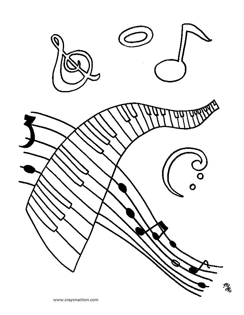 792x1024 Unique Music Notes Symbols Coloring Pages