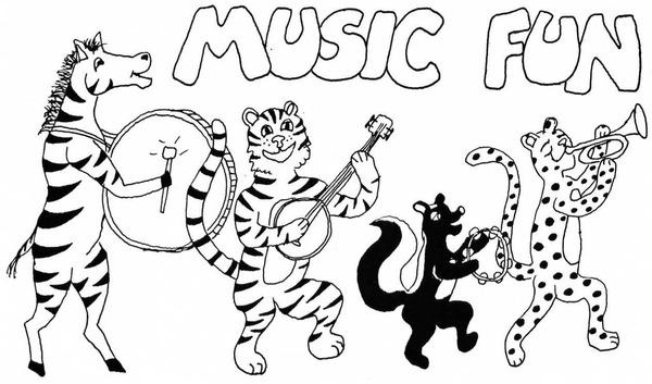 600x353 Coloring Sheet Of Animal Music Fun For Kids