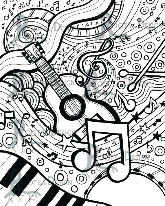 570x713 Music Note Coloring Pages Icontent