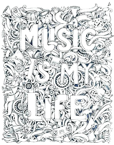Music Coloring Pages At Getdrawingscom Free For Personal Use