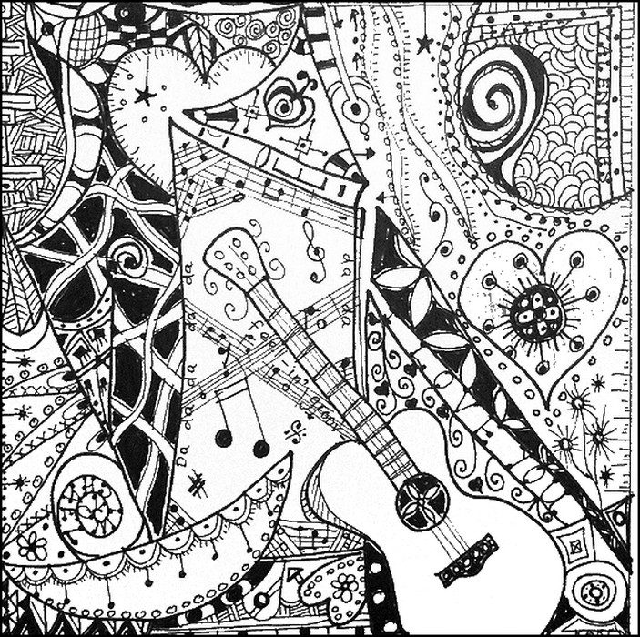 703x700 Music Adult Coloring Pages