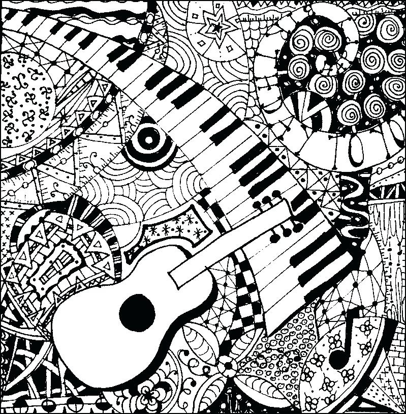 799x814 Music Coloring Page Musical Coloring Pages Abstract Music Coloring