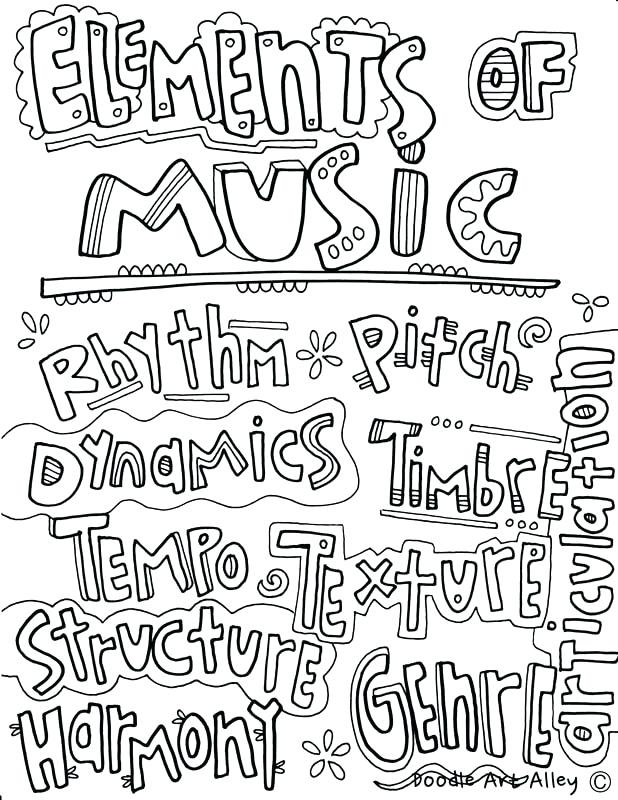 618x800 Music Coloring Pages Elements Of Music Coloring Page Music