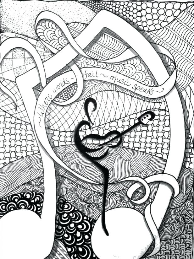 617x825 Music Coloring Pages Printable Adult Coloring Pages Music Weekly