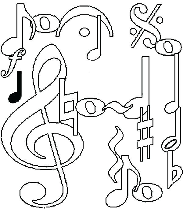 600x683 Music Colouring Pages For Adults Kids Coloring Printable Musical