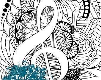 340x270 Music Coloring Page Etsy