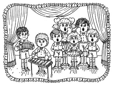 393x300 Neoteric Ideas Music Coloring Pages Adult