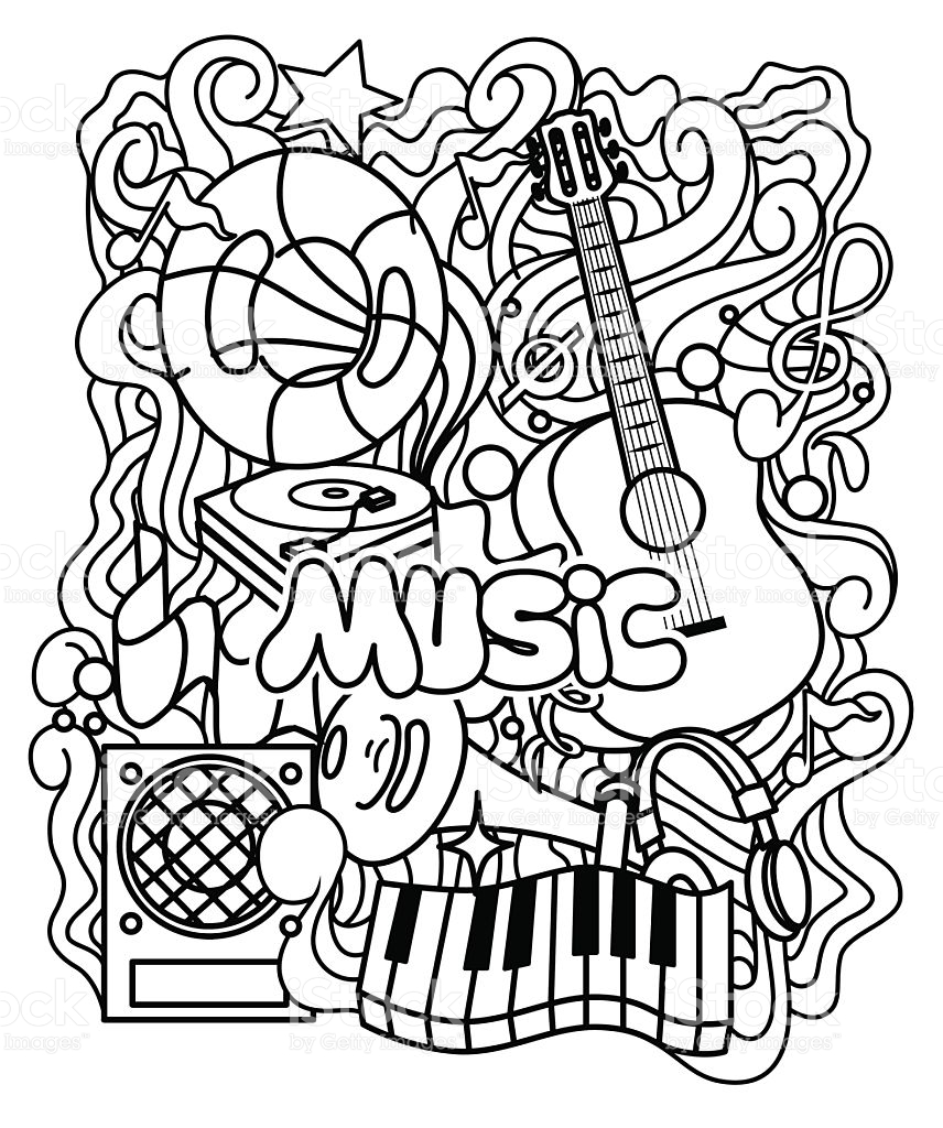 856x1024 Music Coloring Pages Stunning For Adults Ribsvigyapan Free
