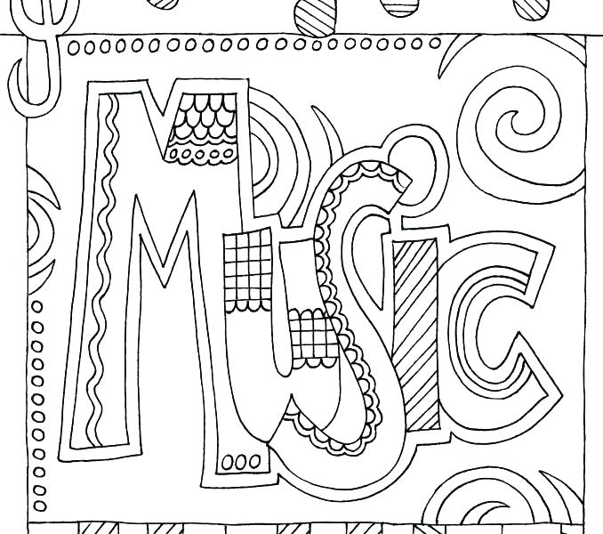 678x600 Music Notes Coloring Pages