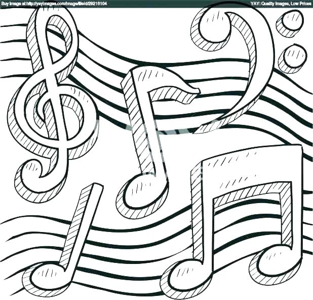 618x591 Music Notes Coloring Sheets