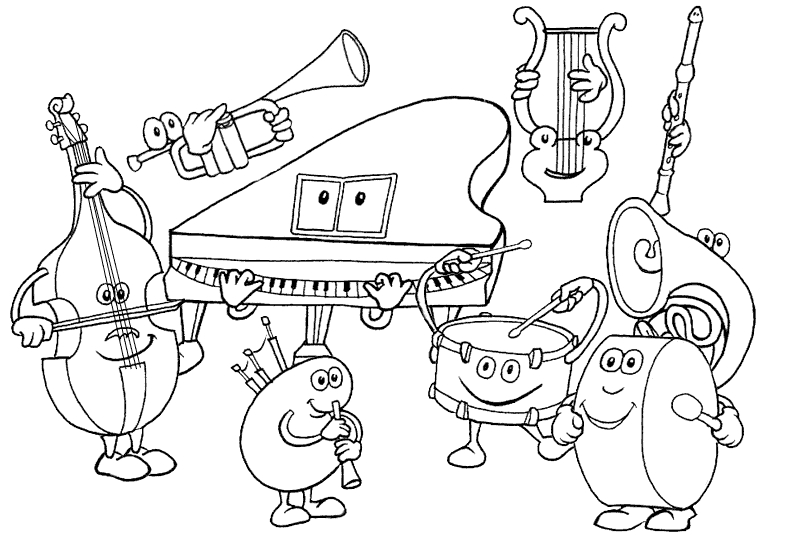 790x545 Music Coloring Pages Educational Coloring Pages