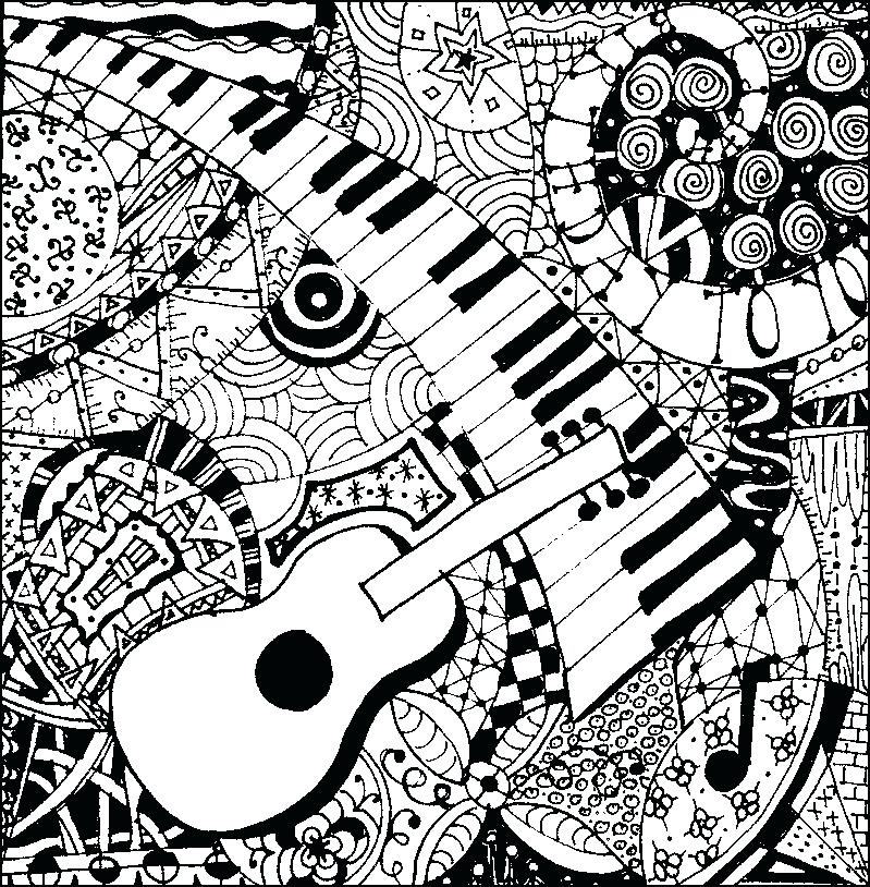799x814 Music Coloring Pages Coloring Pages For Adults Music Abstract