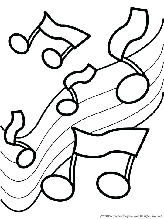 540x720 Music Coloring Pages For Kindergarten Entrancing Music Coloring