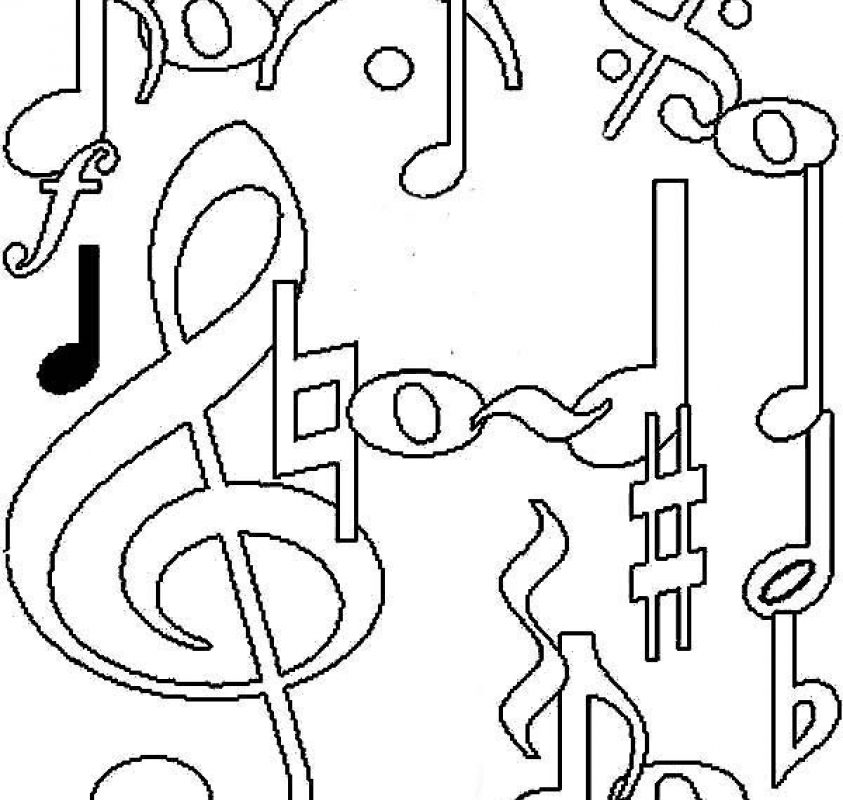 843x800 Music Coloring Pages Free Exciting Color For Children Printable