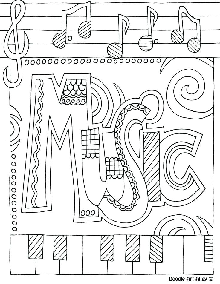 736x951 Music Notes Coloring Pages Printable Musical Notes Music Notes